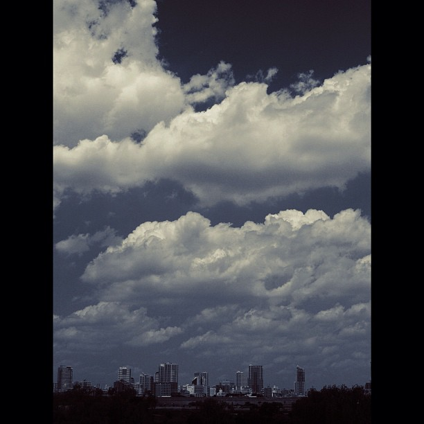 #City under #cloud.  #bw #blackandwhite #monocrome