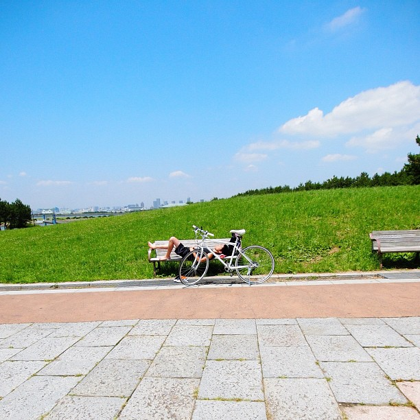 #People take a #nap with #bicycle