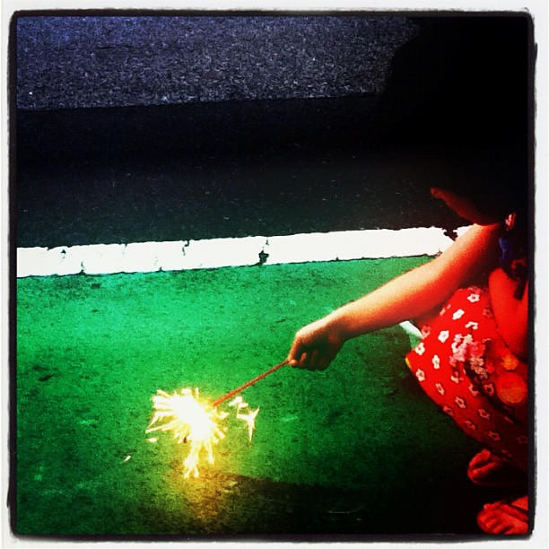 The first #fireworks this #summer #kids
