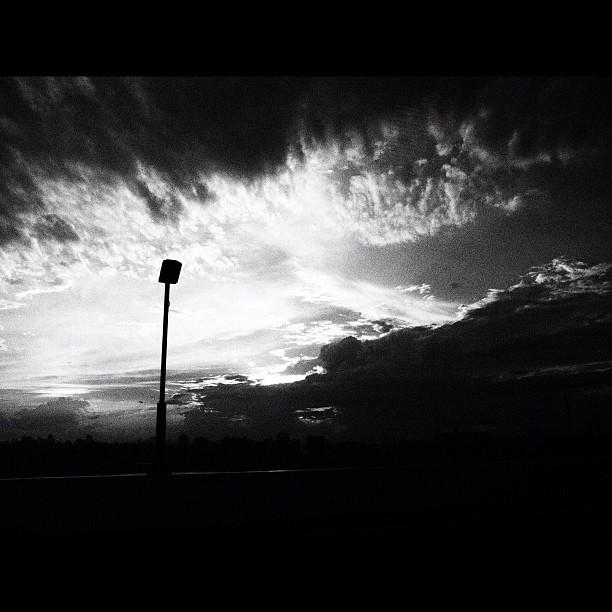 Cloudy sky / #cloud #sky #bw #blackandwhite #monochrome