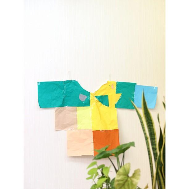 Designed by daughter. #kids #handmade #origami