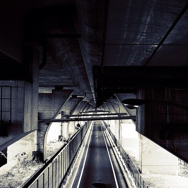 The road lost sky / #bw#blackwhite#blackandwhite#monochrome