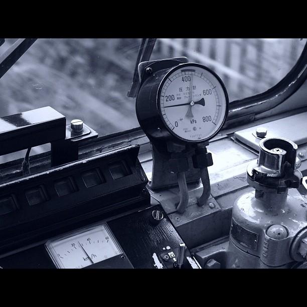 Cockpit / #train #bw #blackandwhite #monochrome