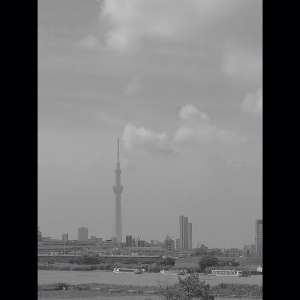 #river & #tower #bw #blackandwhite #monocrome
