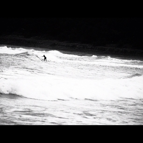 #Surfer. #sea #bw #blackandwhite #monocrome
