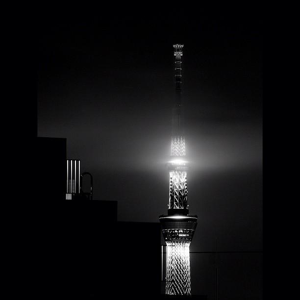 Like the Lighthouse / #night #skytree #bw#blackwhite#blackandwhite#monochrome