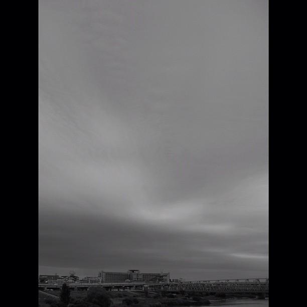 #cloudy #sky. #bw #blackandwhite #monocrome