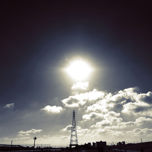 Rising sun / #bw#blackwhite#blackandwhite#monochrome