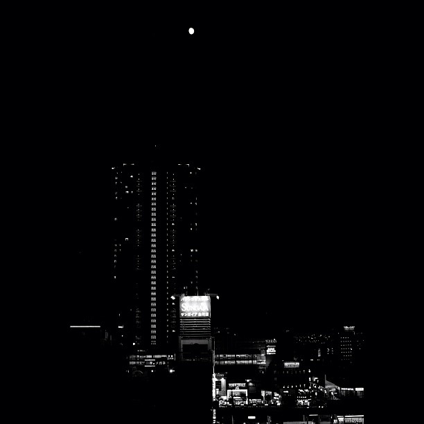 Which bright? #moon #night #city #bw #blackandwhite #monocrome